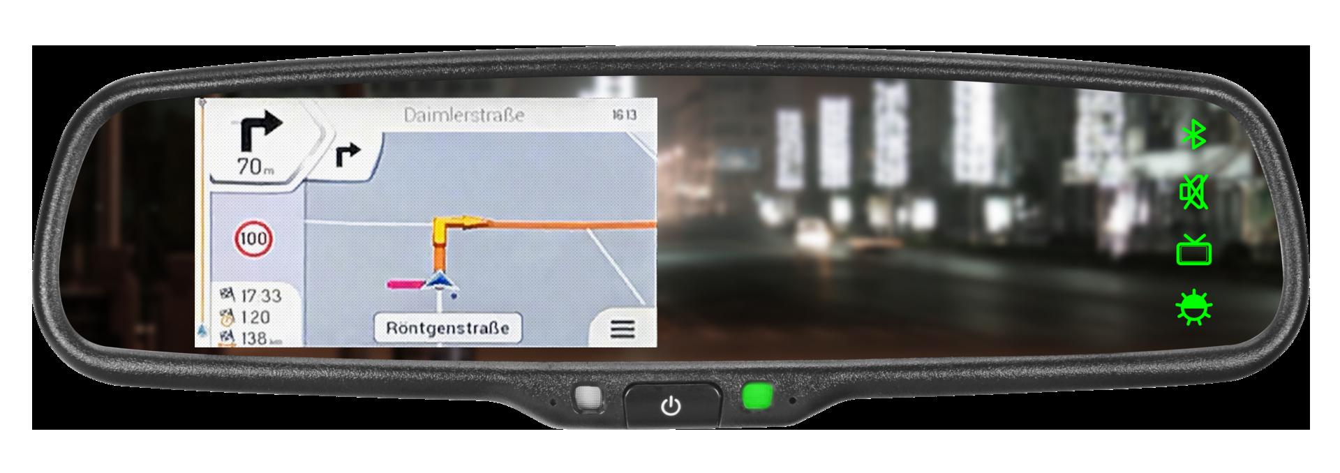 vrm 4304nav r ckspiegel navigation mit r ckfahrkamera in. Black Bedroom Furniture Sets. Home Design Ideas